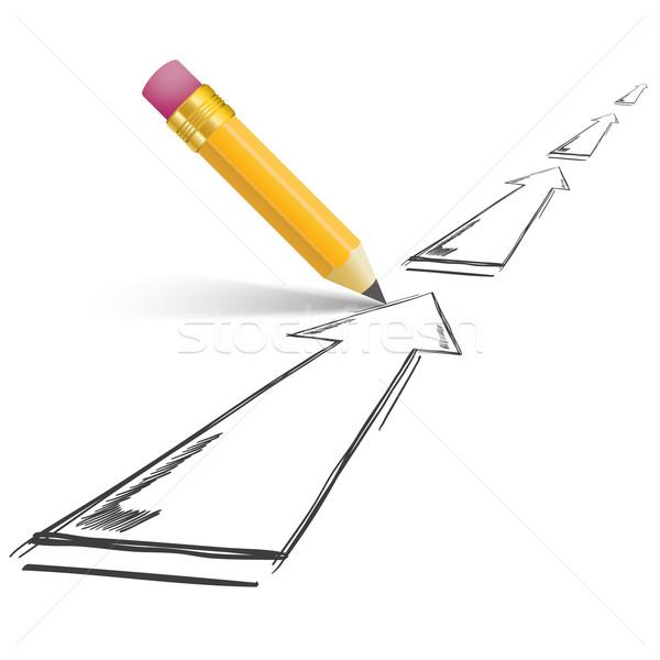 鉛筆 影 成長 白 eps ストックフォト © limbi007