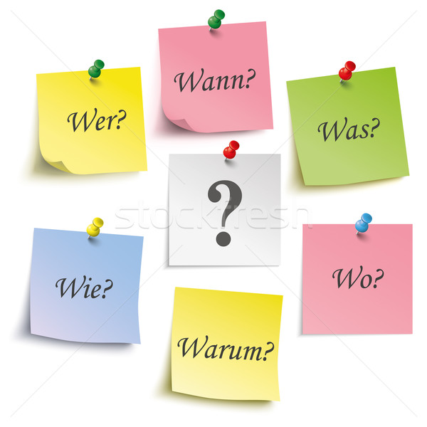 Question Ger Colored Sticks Pins Stock photo © limbi007
