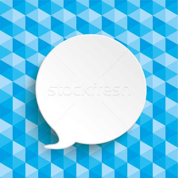 Low Poly Design Speech Bubble Stock photo © limbi007