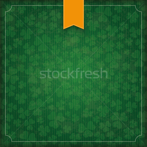 Stock photo: St. Patricks Day Vintage Empty Cover Flag