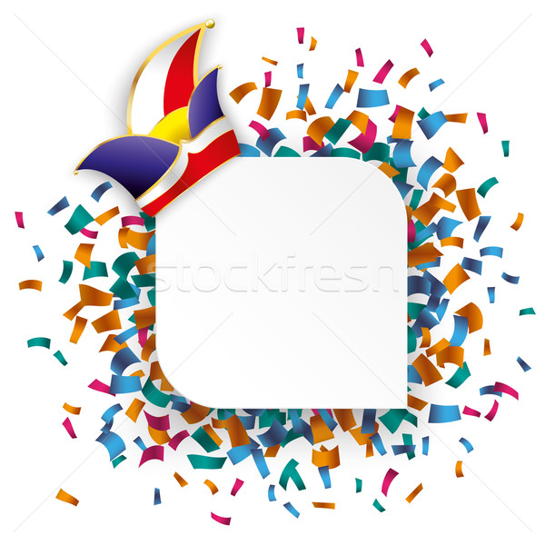 White Round Rectangle Confetti Carnival Stock photo © limbi007