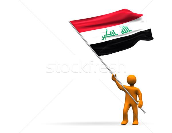 Irak fan örnek büyük bayrak Stok fotoğraf © limbi007