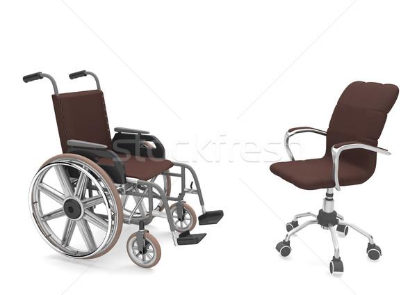 Wheelchair And Swivel Chair Stock photo © limbi007