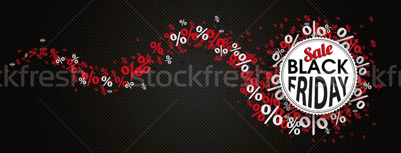 Black Friday Emblem Red Percents Snake Header Stock photo © limbi007