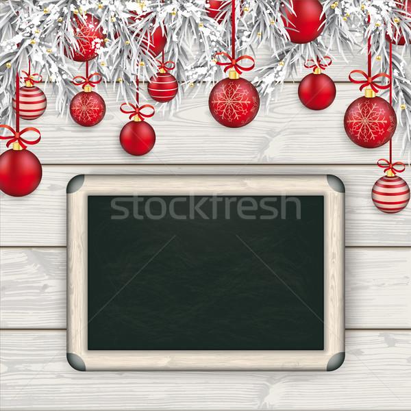 Natale legno rosso congelato legno eps Foto d'archivio © limbi007