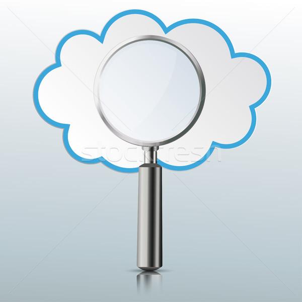 Loupe Mirror Cloud Stock photo © limbi007