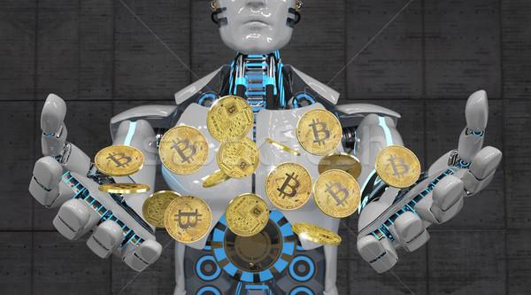 Robot Bitcoins Stock photo © limbi007