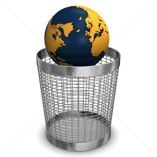 Globe In Wastebasket Stock photo © limbi007