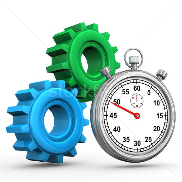 Gears Stopwatch Stock photo © limbi007