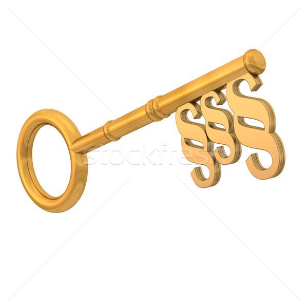 Paragraph Golden Key Stock photo © limbi007