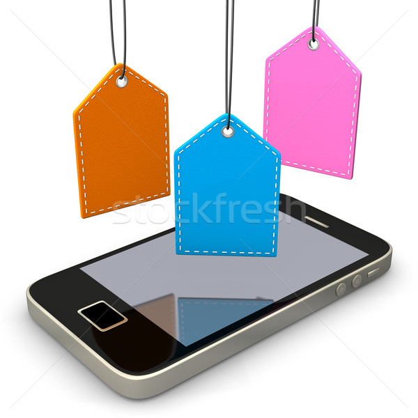 Smartphone Colorful Shomarks Stock photo © limbi007