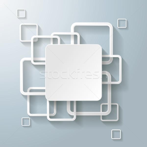 Blanche rectangle grand centre Photo stock © limbi007