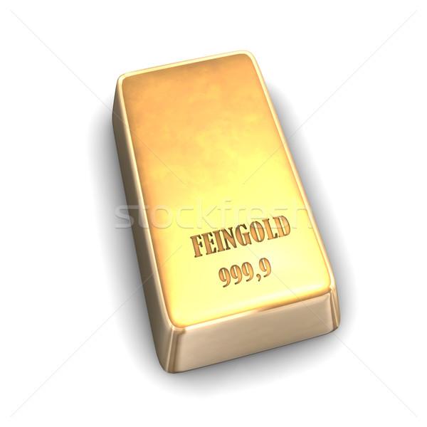 Fine Gold Bar Stock photo © limbi007