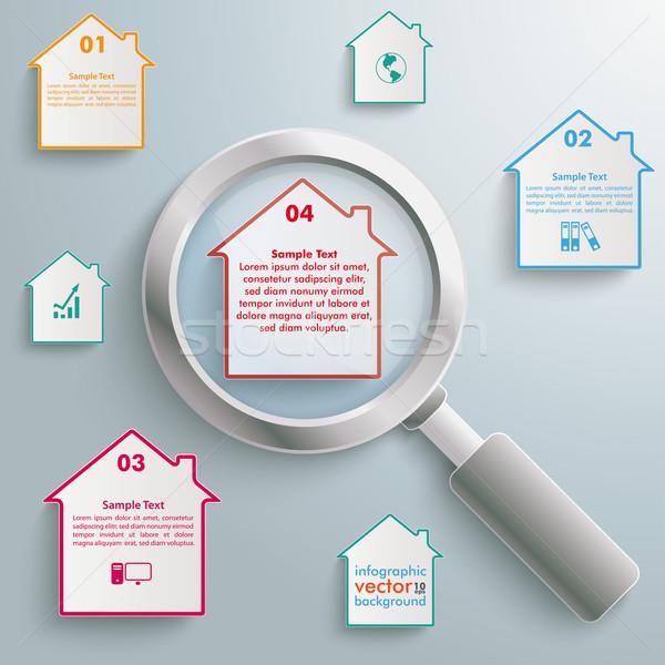 Loupe Houses Infographic Stock photo © limbi007