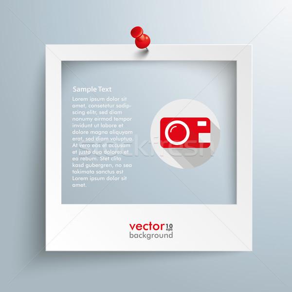 Photo Frame Camera Icon Thumbtack Stock photo © limbi007
