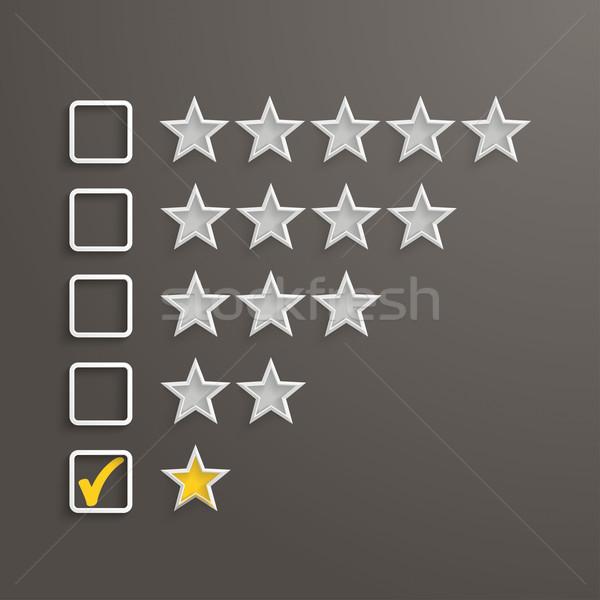 1 Star Rating Stock photo © limbi007