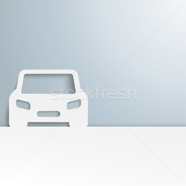 White Car Cover Stock photo © limbi007