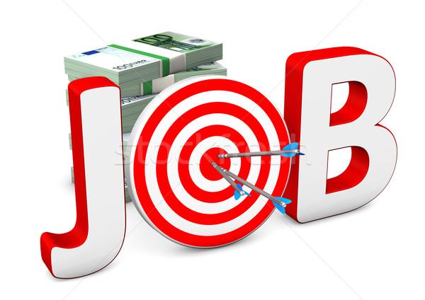 Job Target Euro Notes Stock photo © limbi007