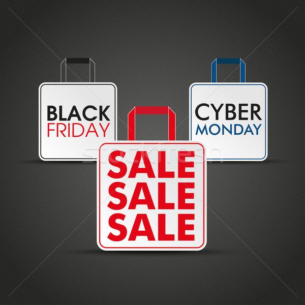 Shopping Bags Black Friday Cyber Monday Stock photo © limbi007
