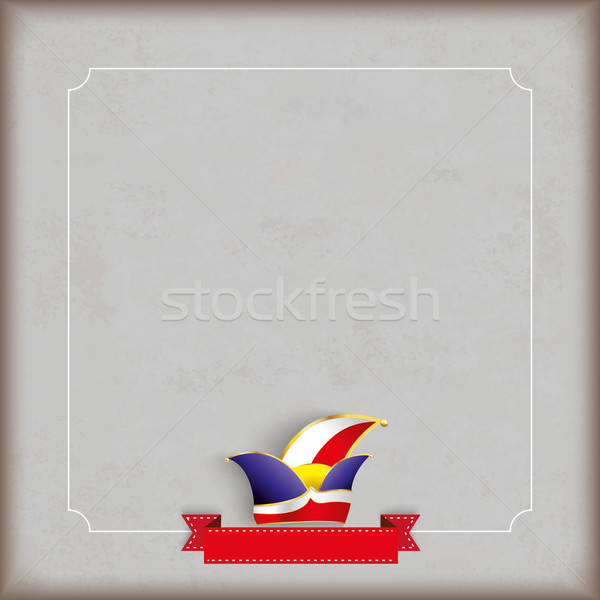 Vintage Cover Carneval Jesters Cap Stock photo © limbi007