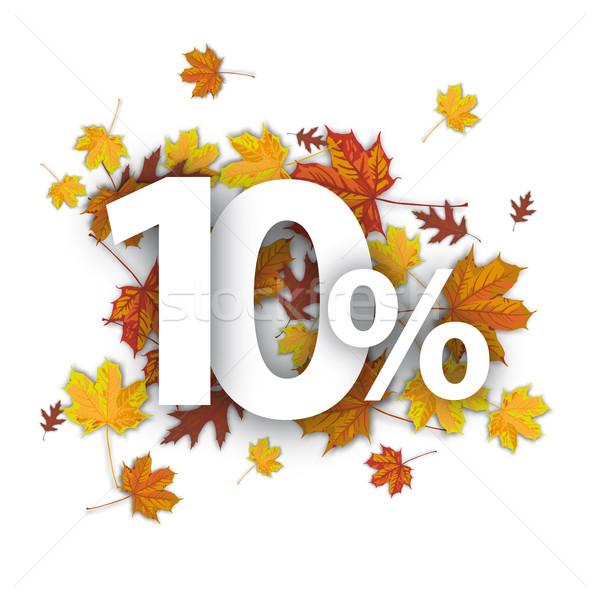 10 Percent Autumn Foliage  Stock photo © limbi007
