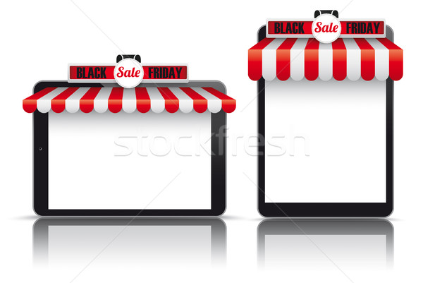 Czerwony biały black friday zestaw realistyczny sprzedaży Zdjęcia stock © limbi007
