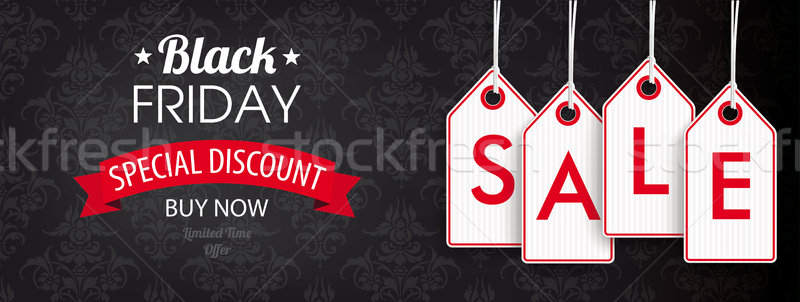 Stock photo: Black Friday Header Ornaments Price Stickers Sale
