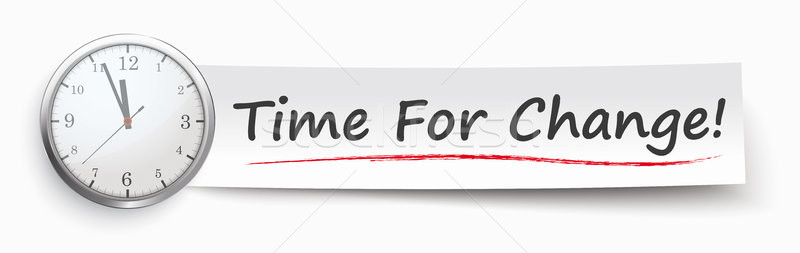 Paper Banner Clock Time For Change Stock photo © limbi007