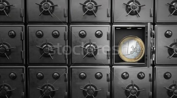 Safes Euro Coin Stock photo © limbi007