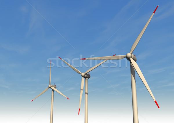 Three Wind Turbines Stock photo © limbi007