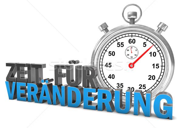 Time For Change Stopwatch Stock photo © limbi007