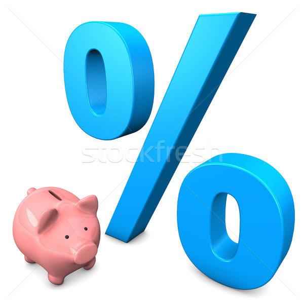 Big Interest Piggy Bank Stock photo © limbi007