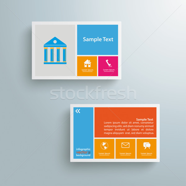 Businesscard Infographic Paper Design Stock photo © limbi007