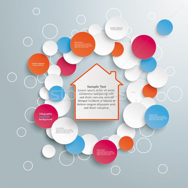 House Infographic Circles Stock photo © limbi007