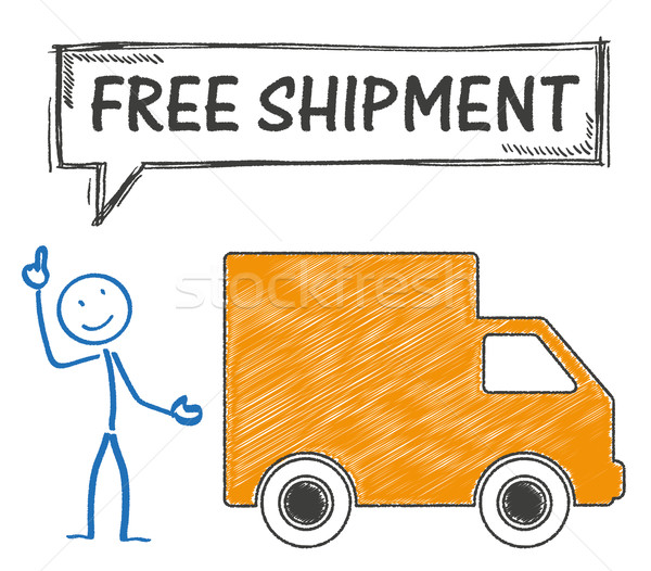 Stickman Free Shipment Stock photo © limbi007