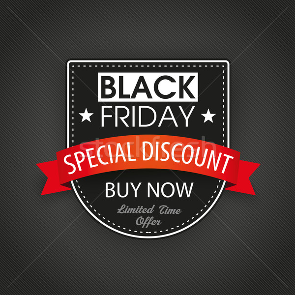 Escudo black friday escuro texto eps Foto stock © limbi007