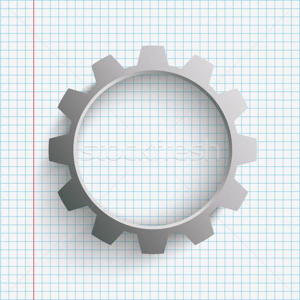 Gear Wheel Checked Paper Stock photo © limbi007