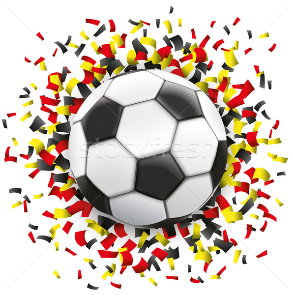 Football Black Red Yellow Confetti Germany Stock photo © limbi007
