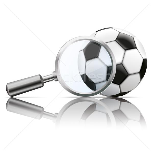 Loupe Mirror Football Stock photo © limbi007