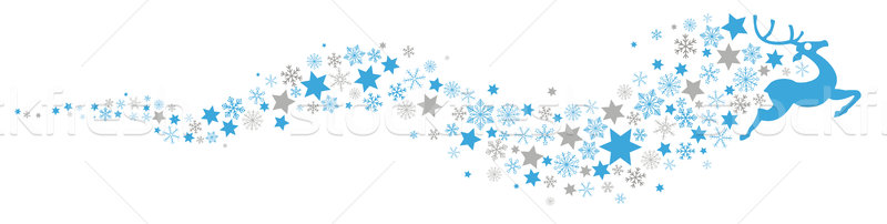 Reindeer Snowflakes Star Dust  Stock photo © limbi007