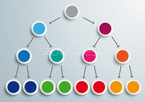 Colored Pyramid Scheme Infographic  Stock photo © limbi007