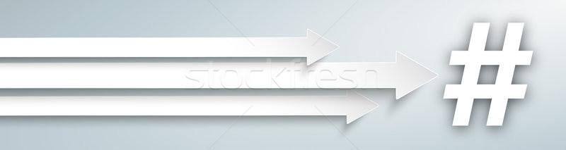 3 Arrows Hashtag Header Stock photo © limbi007