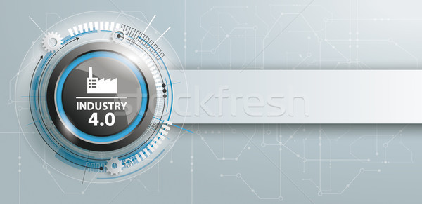 Industry 4.0 Button Circuit Board Banner Stock photo © limbi007