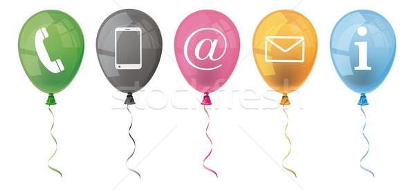 Colored Balloons Contact Icons Header Stock photo © limbi007