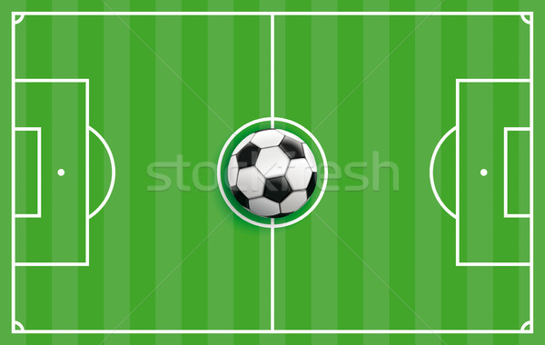Clássico futebol tática verde listrado terreno Foto stock © limbi007