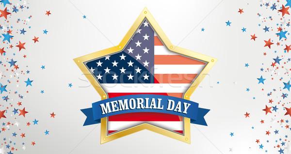 Memorial Day Golden Star Side Stars Header Stock photo © limbi007