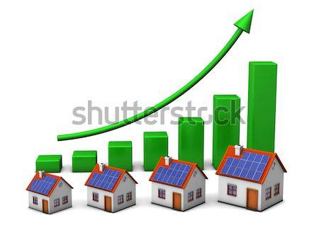 お金 グラフ 風力タービン 白 背景 エネルギー ストックフォト © limbi007