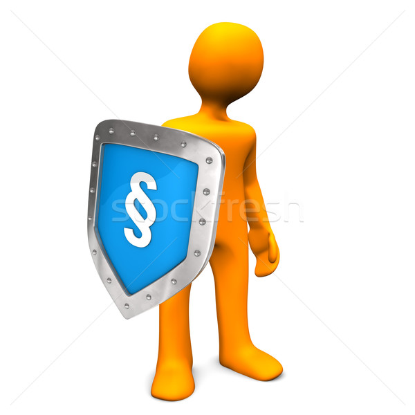 Manikin Shield Paragraph Stock photo © limbi007