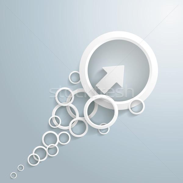White Arrow With Circles Stock photo © limbi007