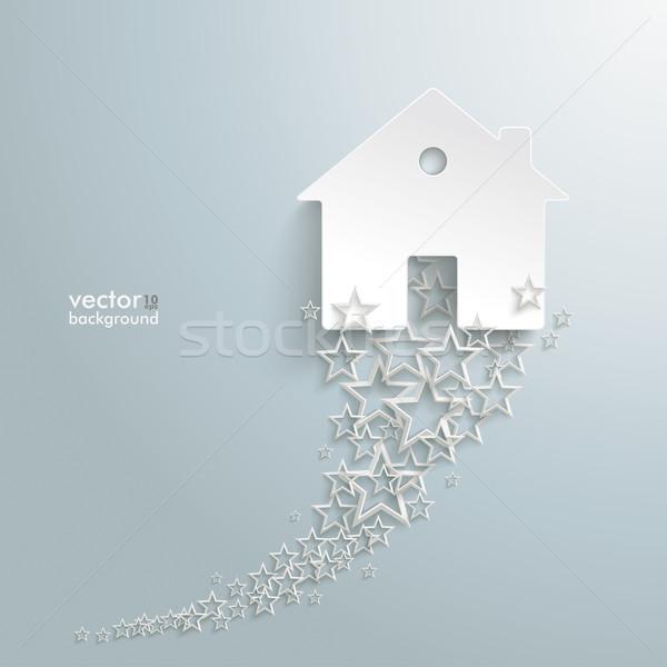 白 星 白い家 グレー eps 10 ストックフォト © limbi007
